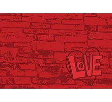 Love Bricks Photographic Print