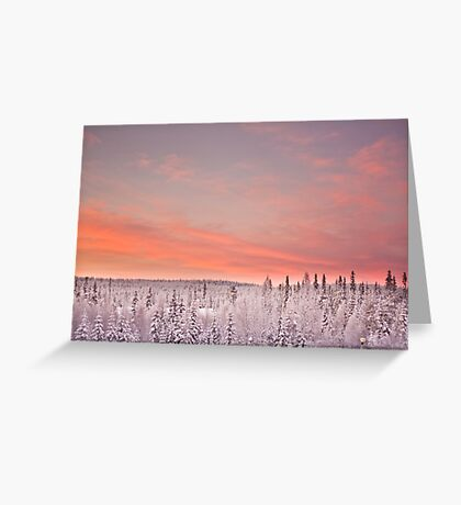 Sunset Lapland Greeting Card