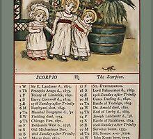 Greetings-Kate Greenaway October Almanac Page by Yesteryears