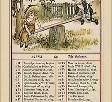 Greetings-Kate Greenaway September Almanac Page by Yesteryears