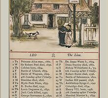 Greetings-Kate Greenaway July Almanac Page by Yesteryears