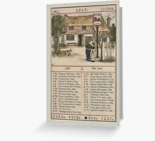 Greetings-Kate Greenaway July Almanac Page Greeting Card