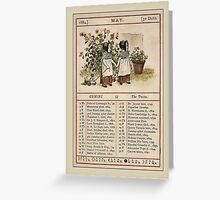 Greetings-Kate Greenaway May Almanac Page Greeting Card