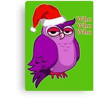 Santa Owl  Canvas Print