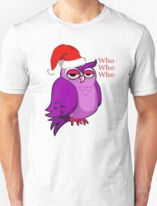 Santa Owl  T-Shirt