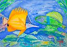 tropical fish. yellow and parrott fish. peixe papagaio by terezadelpilar~ art & architecture