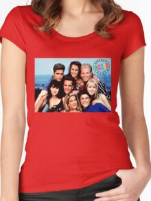 90210-cast Women's Fitted Scoop T-Shirt