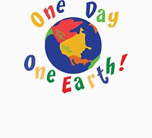 "Earth Day ""One Day One Earth"" Womens Fitted T-Shirt"
