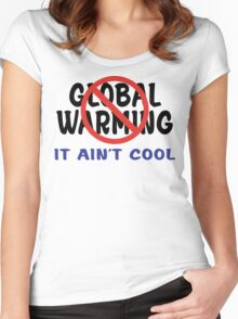 Earth Day Stop Global Warming Women's Fitted Scoop T-Shirt