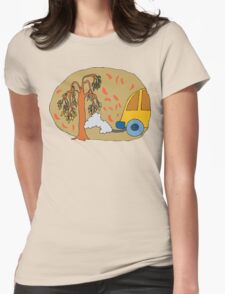 Earth Day Stop Air Polution Womens Fitted T-Shirt