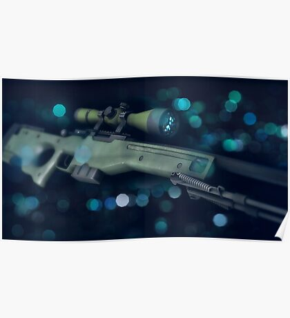 CSGO Gun Series | AWP Bokeh Poster