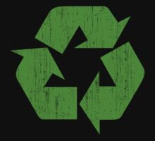 Earth Day Grunge Recycle Symbol by HolidayT-Shirts