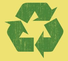 Earth Day Grunge Recycle Symbol Kids Clothes