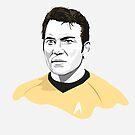 Star Trek James T. Kirk (William Shatner) illustration by Creative Spectator