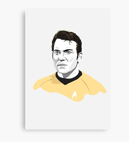 Star Trek James T. Kirk (William Shatner) illustration Canvas Print