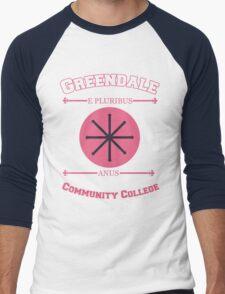 Greendale Community College E Pluribus Anus Men's Baseball ¾ T-Shirt