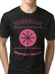 Greendale Community College E Pluribus Anus Tri-blend T-Shirt
