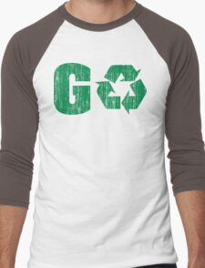 Earth Day Grunge Go Recycle Men's Baseball ¾ T-Shirt