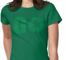 Earth Day Grunge Go Recycle Womens Fitted T-Shirt