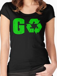 Earth Day Grunge Go Recycle Women's Fitted Scoop T-Shirt