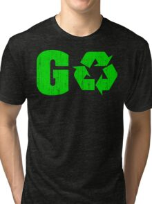 Earth Day Grunge Go Recycle Tri-blend T-Shirt