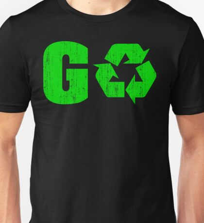 Earth Day Grunge Go Recycle Unisex T-Shirt