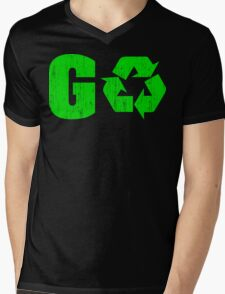 Earth Day Grunge Go Recycle Mens V-Neck T-Shirt