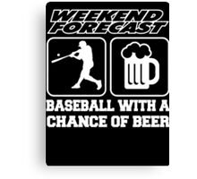 beer with baseball Canvas Print