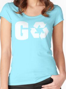 Earth Day Go Green Women's Fitted Scoop T-Shirt