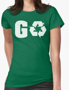 Earth Day Go Green Womens Fitted T-Shirt