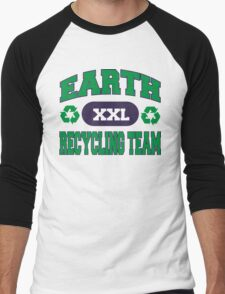 Earth Day Recycling Team Men's Baseball ¾ T-Shirt