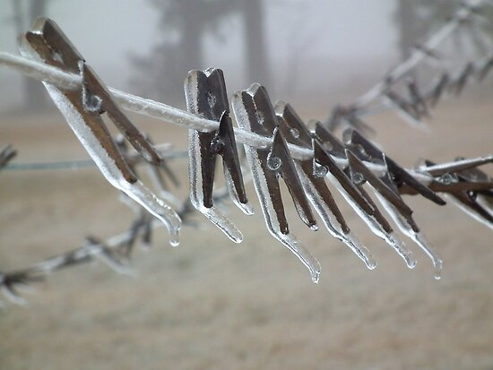 Icy  Clothespins by Deb Fedeler