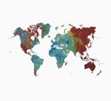 World map metal Kids Tee