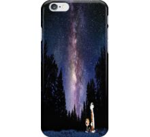 Calvin And Hobbes In The Night iPhone Case/Skin
