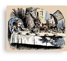 Mad Tea Party Color Canvas Print