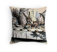 Mad Tea Party Color Throw Pillow