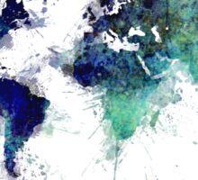 World map blue splash Sticker