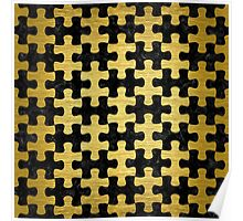 PUZ1 BK MARBLE GOLD Poster