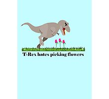 T-Rex hates picking flowers on Valentines day    Photographic Print