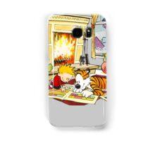 Calvin and hobbes waiting Christmas Samsung Galaxy Case/Skin