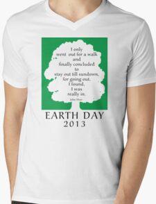Earth Day 2013 John Muir Mens V-Neck T-Shirt