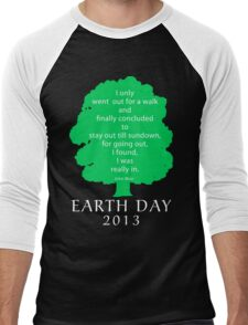 Earth Day 2013 John Muir Men's Baseball ¾ T-Shirt