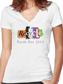 Earth Day 2013 Recycle Women's Fitted V-Neck T-Shirt