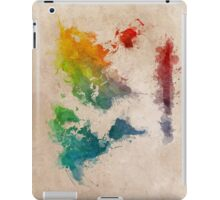 World Map splash colored iPad Case/Skin