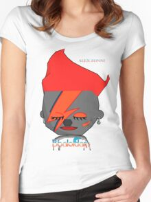 Bhaloidam Homage to Aladdin Sane Women's Fitted Scoop T-Shirt
