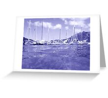 West Indies Regatta Raft Up - colorless Greeting Card