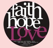 Faith, Hope, Love Kids Tee