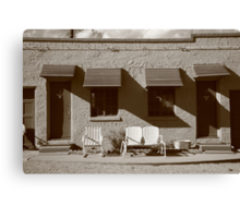 Route 66 - Blue Swallow Motel Canvas Print