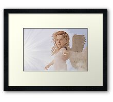 Take My Hand - Step Into The Light Framed Print