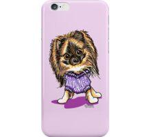 Plum Cute Pomeranian iPhone Case/Skin